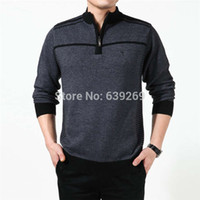 Wholesale High Quality New Winter Thick Warm Sweater Men Turtleneck Cashmere Pullover Zipper Knitwear Plus Size Brand Clothing