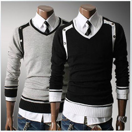 Wholesale New Korean men s exclusive characteristics of business and leisure services V neck sweater