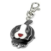 Wholesale Dog Round Watchcase Pendant Keychain Keyring Watch