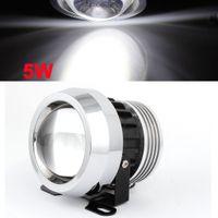 Cheap 70mm Dia 5W Car White Daytime Running Driving Fog Light Headlamp w Metal Bracket