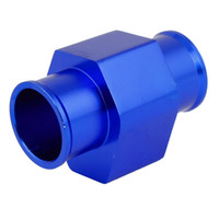 Wholesale Auto Water Temperature Gauge Sensor Radiator Hose Adapter Joint Pipe Blue mm