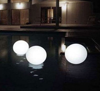 Wholesale LED light ball colorful plastic furniture mm waterproof LED light spherical ball floating lights Lawn