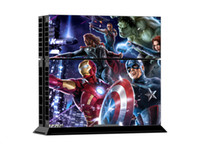 Cheap Marvel Hreos Decal Skin Stickers For PS4 Console Decal+2 Pcs Stickers For PS4 Controller Free shipping