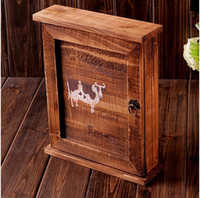 Wholesale wooden box Wall hanging type key box Wooden box Creative Home Furnishing decorations