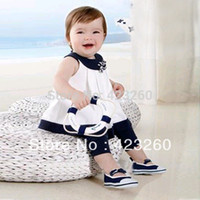 Cheap Wholesale-In stock 2013 hot-selling kids clothes set summer baby clothing for boys girls T-shirt+pants XL075 Free shipping Dropshipping
