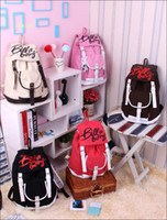 Wholesale Girl s Casual Inspired Stylish Canvas Day Pack Black Backpack Satchel