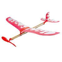 Wholesale DIY rubber band powered model airplanes Thunderbird Thunderbird rubber band airplanes Plane For Kids Children With