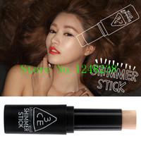 Cheap Wholesale-Free Shipping.Hot selling stylenanda 3CE Brand high light bar high-gloss powder put glitter Concealer Make Up