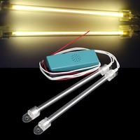 12v ccfl - Auto Yellow CCFL Tube Interior Neon Fluorescent Lights Lamps Tube Decor DC V
