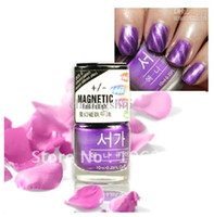 Wholesale High Quality bottles per in colors magnetic nail polish with magnet fixed on inner cap