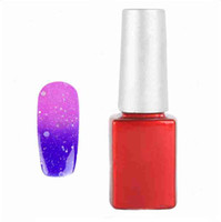 Cheap Wholesale-Free Shipping 12ML Temperature Color Change Nail Art Soak Off Color UV Gel Polish #18