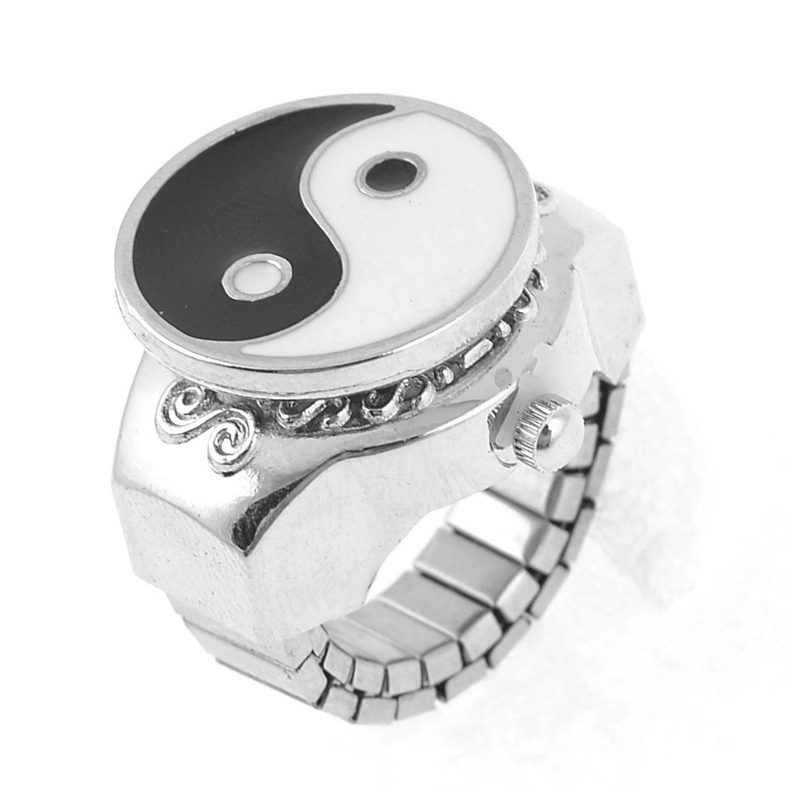 Silver Tone Metal Eight Diagram Designed Finger Ring Watch Us 5 ...