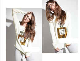 Wholesale Fashion Casual Long Sleeve Sequins Perfume Print Pullover Knited Sweater Womens Winter Wear Plus Size Black White Color