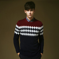 Wholesale New Arrival Western Style Vintage Slim Fit Men Pullover Sweater Winter Autumn Wear High Quality MZL225