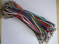 Precio de Broches para los encantos-50 piezas de cuero trenzado de cuero trenzado amor de la pulsera para la corbata de la langosta Cierre joyas finas