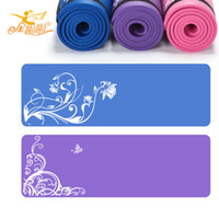 yoga mat - Moistureproof Yoga Mat Broadened MM nbr Sports Mat Fitness Mat Prints Mat for Fitness cm cm