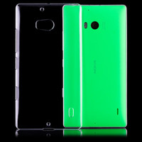 Wholesale Slim Crystal Clear Hard Case Cover for Nokia Lumia Crystal Plastic Case with Free Screen Protector