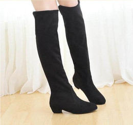 Discount Thigh High Wedge Boots For Women | 2017 Thigh High Wedge ...