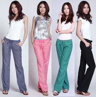 Cheap Womens Linen Pants Wide Leg | Free Shipping Womens Linen ...