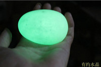 glow stone - mm mm Green Glow Calcite Glow In Luminous Crystal Egg The Dark Stone Ball Sphere egg Healing