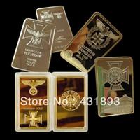 gold bullion - mix three Deutsche Reichsbank design mix the three size German Eagle gold bullion bar
