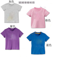 Cheap Wholesale-children summer tops Boys short sleeev tshirt 80 90100 110 120CM have size chart