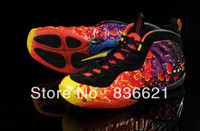 Wholesale Penny Hardaway Basketball Shoes New Mens Air Foamposite One Pro Flames TOP Quality SIZE US8