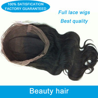 Wholesale Top quality a body wave full lace wig brazilian virgin human hair wigs natural color