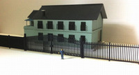 Wholesale LG8707 Model Railway Building Wooden Fence Wall with Door HO OO Scale NEW