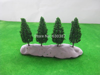 Wholesale S6823 Model Pine Trees Deep Green For N HO Scale Layout mm New