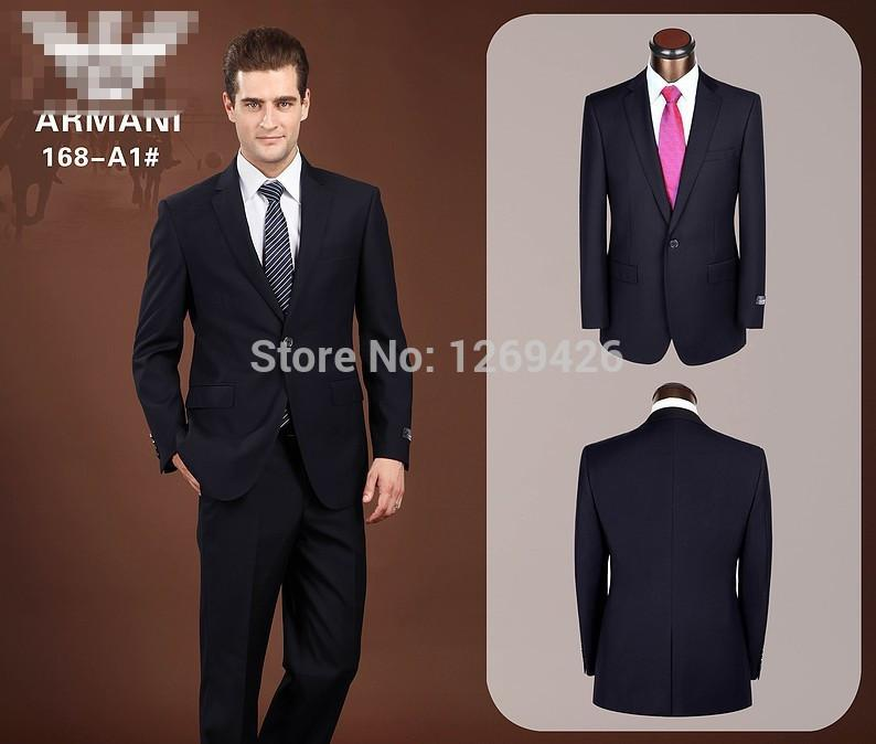2017 Wholesale 2015 Men Brand Formal Dress Suits Fashion 2 Buttons ...