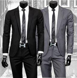 Wholesale-Hot!Wholesale New 2015 Mens business suit set suits + pants slim blazers for men casual suits set