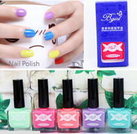Wholesale bgirl ml Candy Color Neon Fluorescent Non toxic Nail Polish Nail Varnish Lacquer Paint Nail Colors for Choose