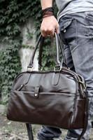 Commercio all'ingrosso di cuoio uomini Travel Bag semplice Travel Bag In mens valigetta alta qualità uomini Cool borsa a tracolla