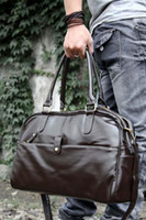 Wholesale Leather Men Travel Bag Simple Travel Bag In mens Briefcase High Quality Men Cool Shoulder Bag