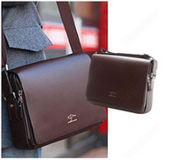Wholesale personality Kangaroo Mens Leather Crossbody Shoulder Messenger Bag Briefcase Handbag Size CM