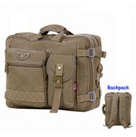 Wholesale Designer items Canvas quot laptop notebook back pack Multifunctional men shoulder messenger bag briefcase
