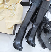 Wholesale Winter rubber boots women leather high heeled boots women motorcycle boots