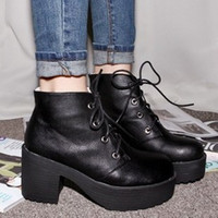Wholesale South Korea imported stylenanda high platform shoes with thick with thick bottom ankle boots
