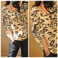 womens jumpers - New Fashion Womens Animal Print Winter Sweater Autumn Spring Knit Loose Pullover Long Sleeve Leopard Shirt Jumper Sueter