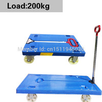 Wholesale FPR hand cart flat bed cart remove goods trolley cart durable Luggage Cart