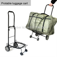 folding shopping cart - hand cart shopping cart stroller protable folding luggage cart moving goods trolley cart hot sale