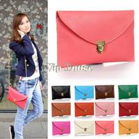 Wholesale New Arrival Womens Envelope Clutch Chain Purse Lady Handbag Tote Shoulder Hand Bag Colors