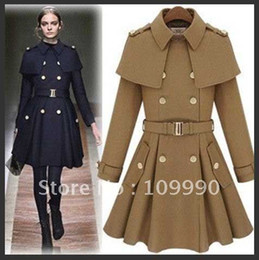 Discount Military Cape | 2017 Military Cape Coat on Sale at DHgate.com
