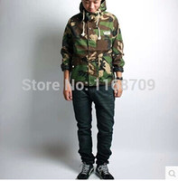 Wholesale Skateboard autumn Men women couple outdoor fashion camouflage shortbrand hooded coat street style streetwear