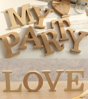 wood letters - cmX1 cm thick Personal Wood Wooden Letters One letter choose from A Z Alphabet Bridal Wedding Party Home Decoration