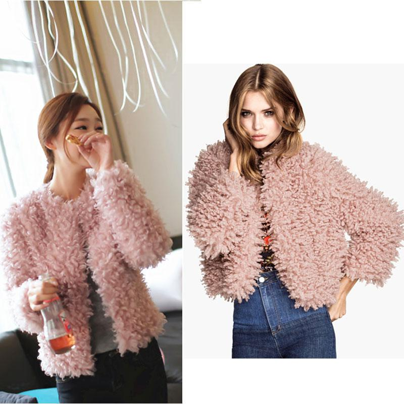New Fashion Ladies Women Faux Fur CoatsHot Sale!Shaggy Collarless