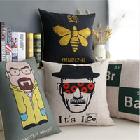Wholesale Cushion cover Breaking Bad pillow case linen cotton pillow cover sofa couch car seat cushion case for home decoration x45cm