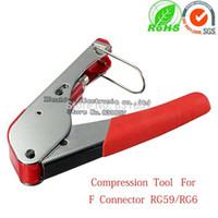Wholesale Compression Tool Crimper for Coaxial RG6 RG59 F BNC RCA Coax Cable RG6 RG59 Waterproof f Connetor Crimping Compression Tool
