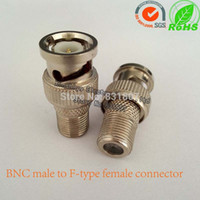 Wholesale BNC male to F type female adapter BNC to F connector for CCTV Camera RF coaxial cable connectors